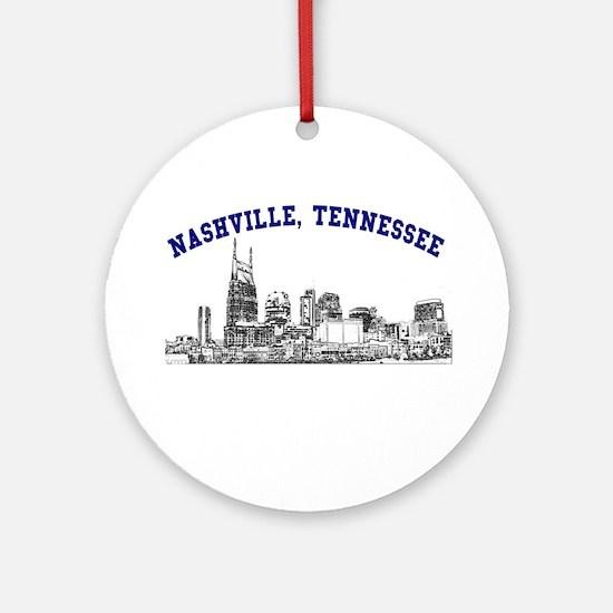 Nashville, Tennessee Ornament (Round)