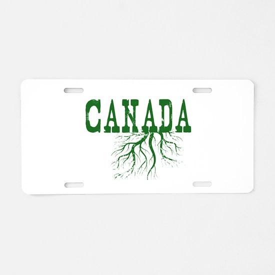 Canada Roots Aluminum License Plate