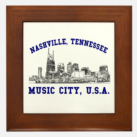 Nashville . . . Music City US Framed Tile