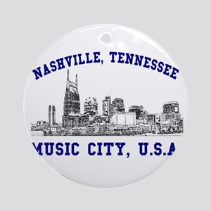 Nashville . . . Music City US Ornament (Round)
