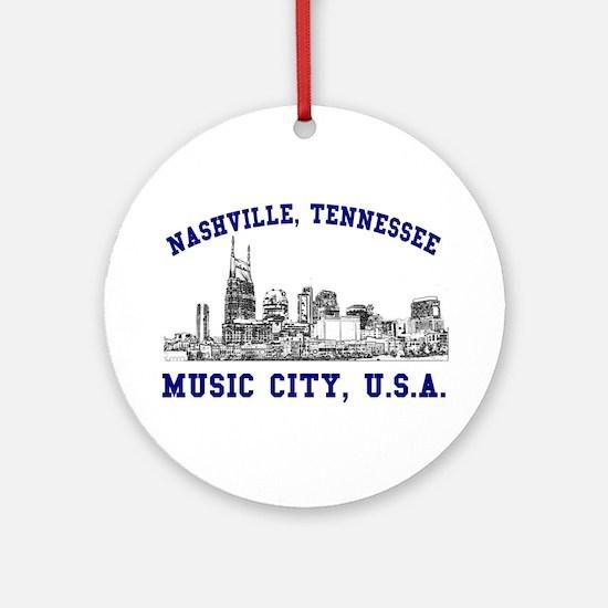 Nashville . . . Music City US Ornament (Round)