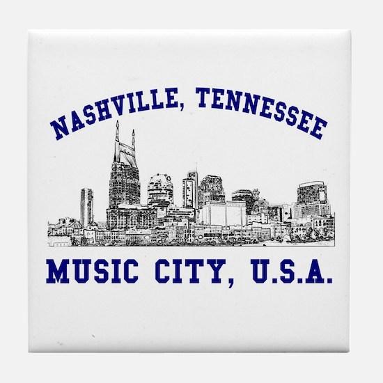 Nashville . . . Music City US Tile Coaster