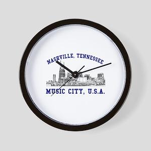 Nashville . . . Music City US Wall Clock
