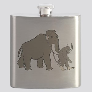 Woolly Mammoth And Bigfoot Flask