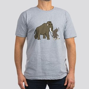 Woolly Mammoth And Big Men's Fitted T-Shirt (dark)
