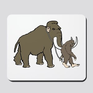 Woolly Mammoth And Bigfoot Mousepad
