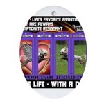 LoverGirl LuLu Live Life With A Dog Ornament (Oval