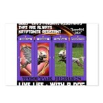 LoverGirl LuLu Live Life With A Dog Postcards (Pac