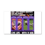 LoverGirl LuLu Live Life With A Dog Car Magnet 20