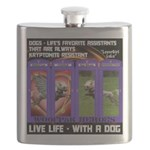 LoverGirl LuLu Live Life With A Dog Flask