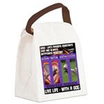 LoverGirl LuLu Live Life With A Dog Canvas Lunch B