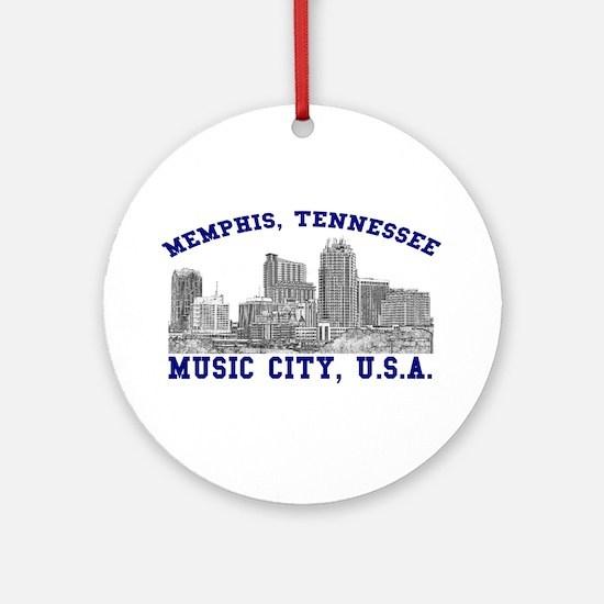 Memphis, Tennessee . . . Musi Ornament (Round)