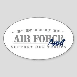 Proud Air Force Aunt (Blue) Oval Sticker