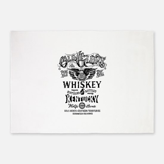 whiskey,whisky, booze, beer, kentuc 5'x7'Area Rug