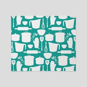 Kitchen Tool Pattern Throw Blanket