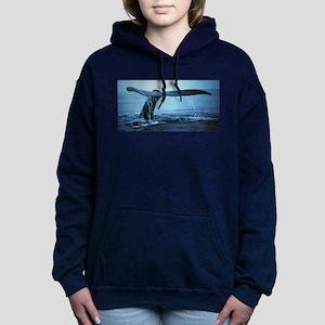 Whale Fluke Women's Hooded Sweatshirt
