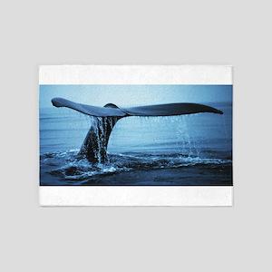 Whale Fluke 5'x7'Area Rug