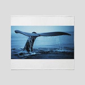 Whale Fluke Throw Blanket