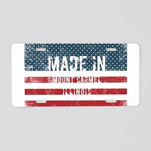 Made in Mount Carmel, Illin Aluminum License Plate