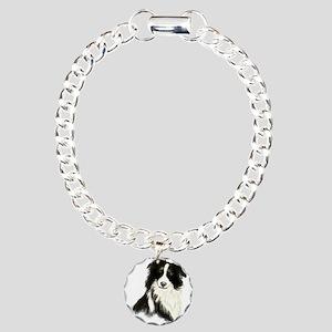 Watercolor Border Collie Dog Pet Animal Charm Brac