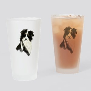 Watercolor Border Collie Dog Pet Animal Drinking G