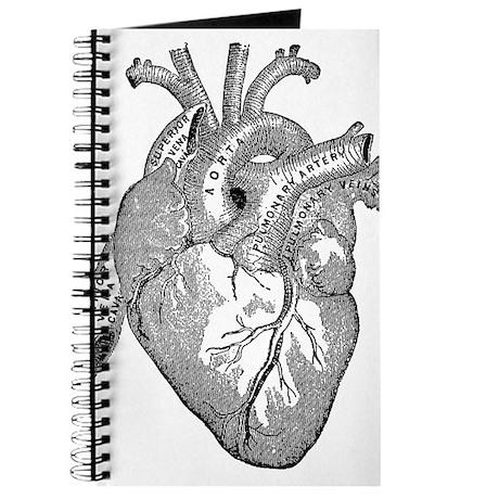 Anatomical Heart - Black Journal by WeirdSistersEmporium