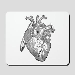 Anatomical Heart - Black Mousepad