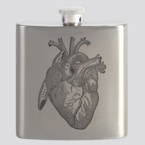 Anatomical Heart - Black Flask