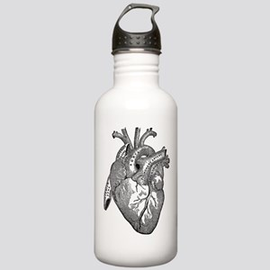 Anatomical Heart - Black Water Bottle