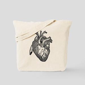 Anatomical Heart - Black Tote Bag