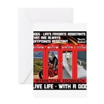 Hectic Hudson - Live Life With A Dog Greeting Card