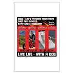 Hectic Hudson - Live Life With A Dog Posters