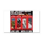 Hectic Hudson - Live Life With A Dog Car Magnet 20