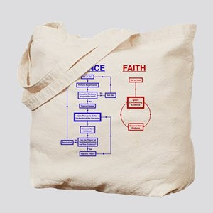 Science vs Faith Tote Bag