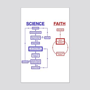 Science vs Faith Mini Poster Print