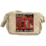 Hectic Hudson - Live Life With A Dog Messenger Bag