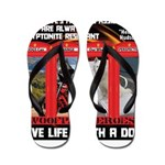 Hectic Hudson - Live Life With A Dog Flip Flops