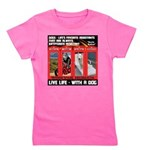 Hectic Hudson - Live Life With A Dog Girl's Tee