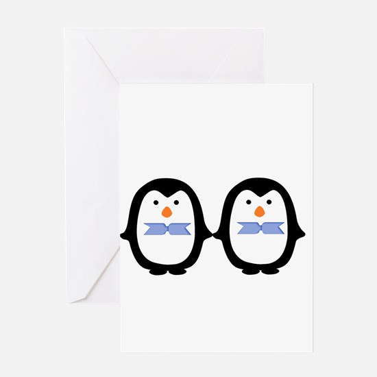 Teo Male Penguins Greeting Cards