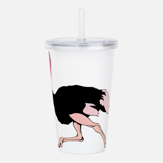 Galloping Ostrich Acrylic Double-wall Tumbler
