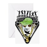 HipHop WOOF Greeting Cards