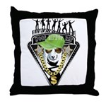 HipHop WOOF Throw Pillow