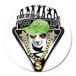 HipHop WOOF Round Car Magnet