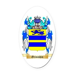 Grinishin Oval Car Magnet