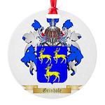 Grinhole Round Ornament