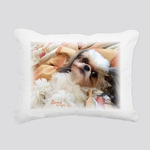 Bonnytheshihtzu_snuggles Rectangular Canvas Pillow
