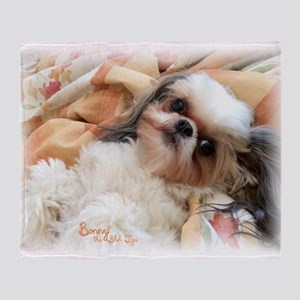 BonnyTheShihTzu_Snuggles Throw Blanket
