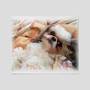 BonnyTheShihTzu_Snuggles Throw Blanket