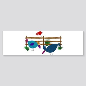 Crazy Chickens Down on the Farm Bumper Sticker