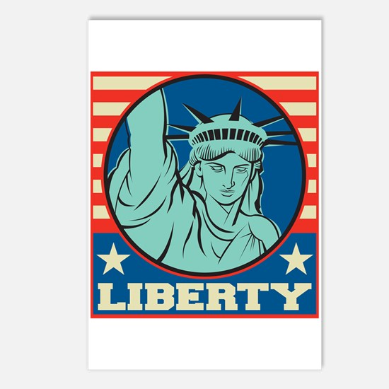 USA Liberty Postcards (Package of 8)